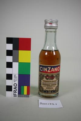 Bottle: Cinzano Vermouth Bianco; Circa 1960s; ; 2001.132.1