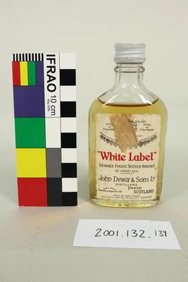 Bottle: White Label Dewar's Finest Scotch Whisky