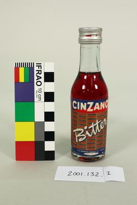 Bottle: Cinzano Bitter; Circa 1960s; ; 2001.132.2