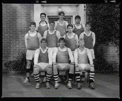 Negative: Christ's College Richards House Sports Team 1992