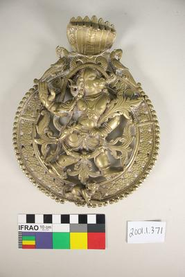 Brass Hanuman wall hanging