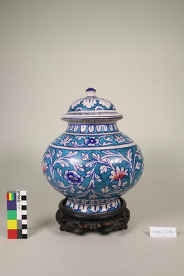 Urn with lid and stand