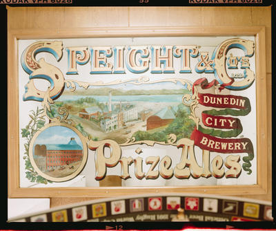 Negative: NZ Breweries Speights Dunedin Sign
