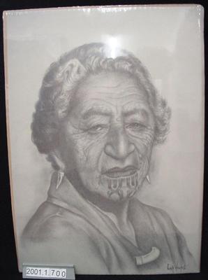 Print of a Māori Woman