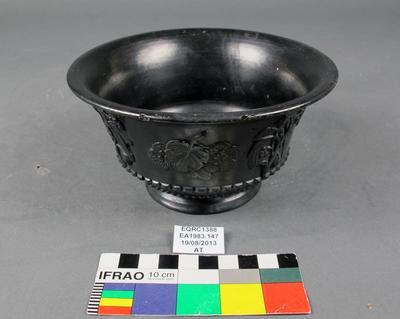 Bowl: Black Earthenware