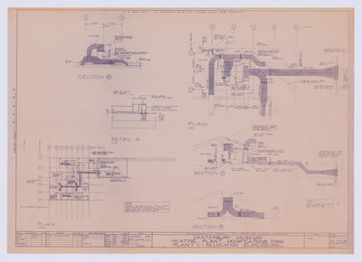 Architectural Plan: Canterbury Museum Heating Plant Modifications (1986)