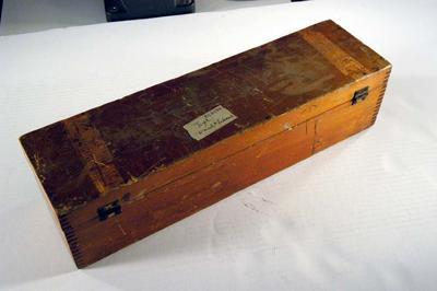 Lantern slide box