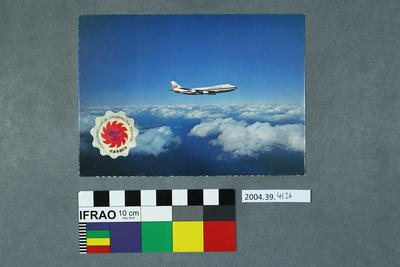 Postcard of a Japan Air Lines aeroplane