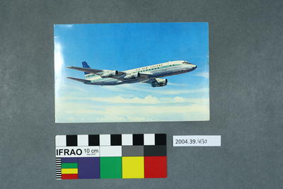 Postcard of an Air New Zealand aeroplane