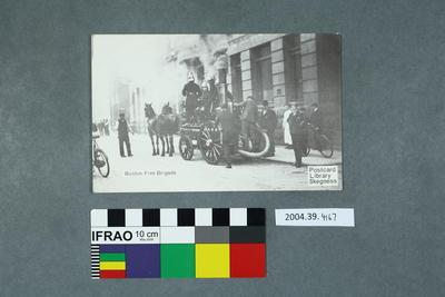 Postcard: Boston Fire Brigade
