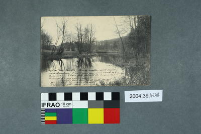 Postcard of a body of water