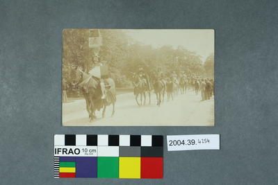 Postcard of a parade