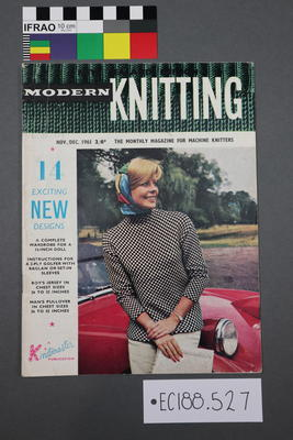 "magazine, knitting pattern:""Modern Knitting.  The monthly magazine for machine knitters"",  Nov/Dec 1961 (NZ Edition)"