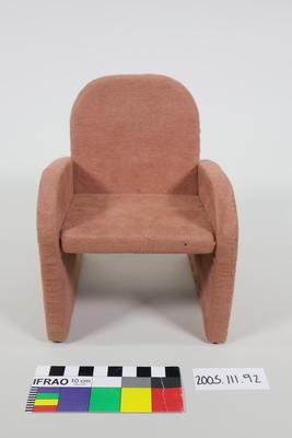 Prop: Pink velvet lounge chair