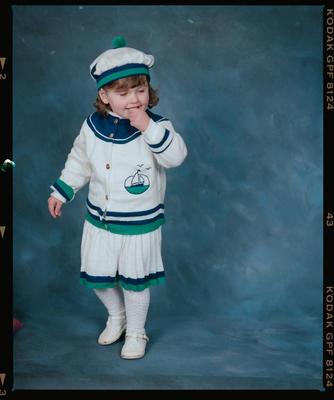 Negative: Burford Little Girl Portrait