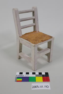 Prop: White painted wooden chair