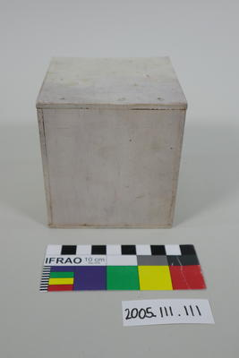 Prop: White painted wooden cube