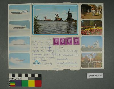 Lettercard of windmills
