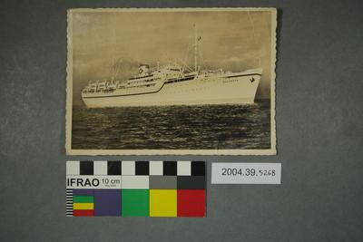 Postcard of a ship