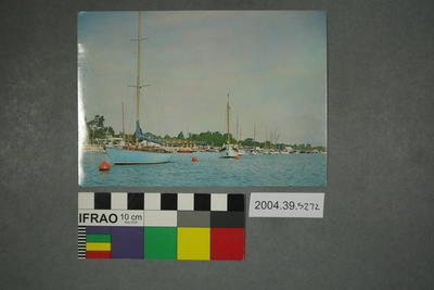 Postcard of boats in River Hamble
