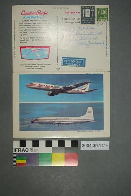 Lettercard: DC-8 Jet Empress