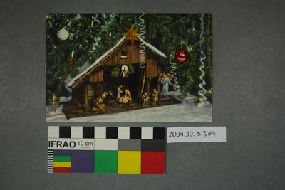 Postcard of a Nativity set