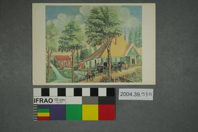 Postcard of a Hein Bakker painting