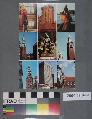 Postcard of scenes around Copenhagen