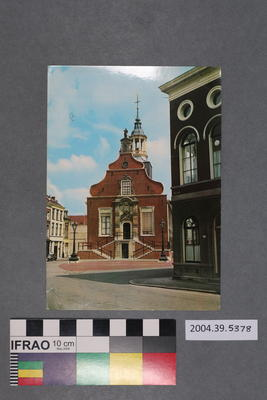 Postcard of a town hall