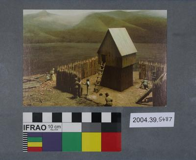 Postcard of a French Blockhouse display