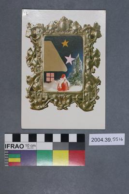 Postcard of Christmas art