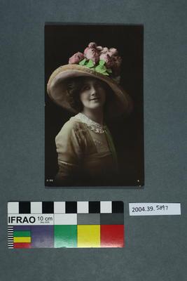 Postcard of a woman's portrait