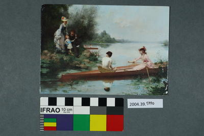 Postcard of a boating scene