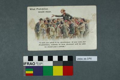 Postcard of cartoon scene