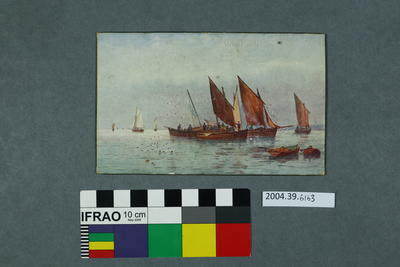 Postcard of boats