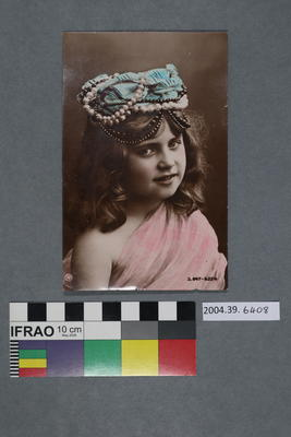 Postcard of a young girl