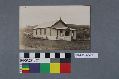 Postcard of a building