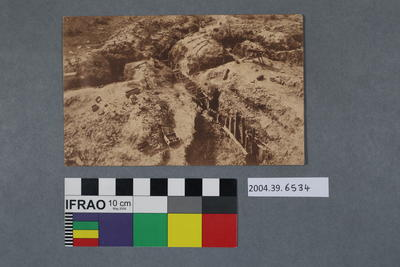 Postcard of Canadian trenches