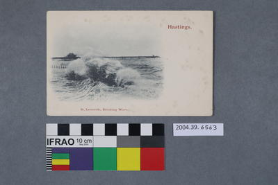 Postcard: Hastings, St. Leonards, Breaking Wave