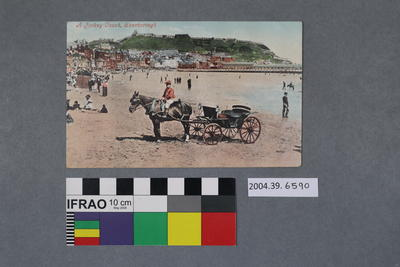 Postcard: A Jockey Couch, Scarborough