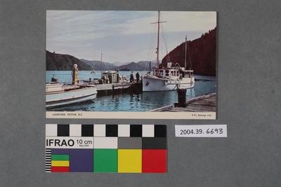 Postcard: Launches, Picton, N.Z.