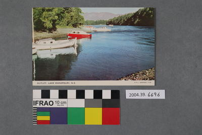 Postcard: Outlet, Lake Manapouri, N.Z.