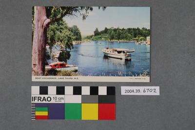 Postcard: Boat Anchorage, Lake Taupo