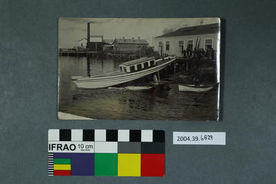 Postcard of boat launch