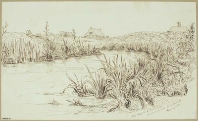 Sketch: The Church and Parsonage; 14 Dec 1852; 1949.29.16