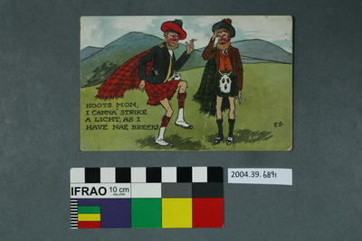 Postcard of a cartoon