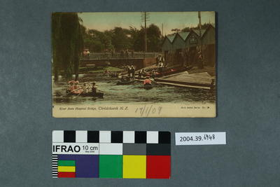 Postcard: River Avon Hospital Bridge, Christchurch, N.Z.