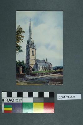 Postcard: Bodelwyddan (Marble) Church