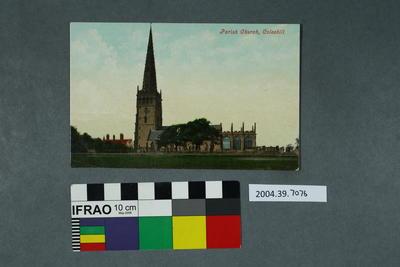 Postcard: Parish Church, Coleshill