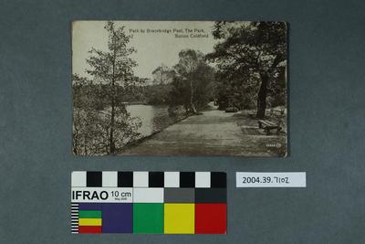 Postcard: Path by Bracebridge Pool, The Park, Sutton Coldfield